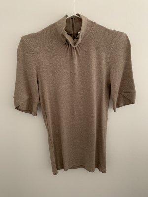 Brunello Cucinelli Camisa de cuello de tortuga beige-camel