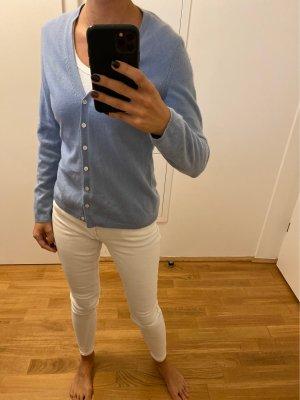 Ann Taylor Kaszmirowy sweter błękitny-chabrowy