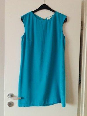 100% edele Seide Kleid, blau, NEU