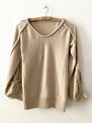 Pullover in cashmere crema Cachemire
