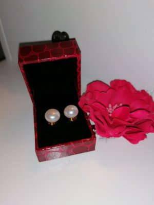 Pendientes de perlas blanco