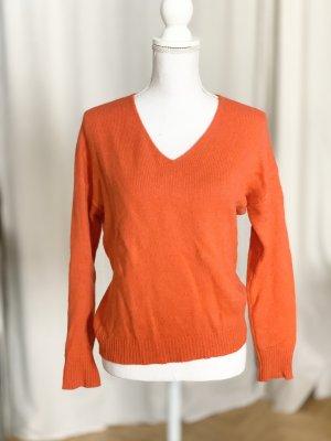 S.Marlon Pullover in cashmere arancione-arancio neon Cachemire
