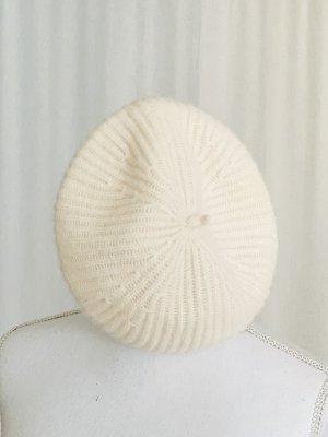 100% Kaschmir Mütze Hut Wolle warm Herbst Winter Wollweiß Creme NEU