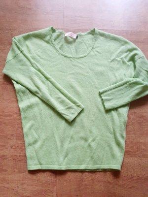 Sudadera de cachemir verde pálido
