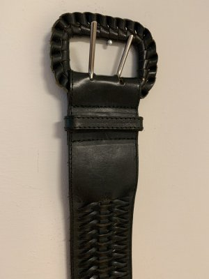 Cinturón trenzado verde oscuro