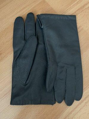 C&A Leather Gloves anthracite-dark grey