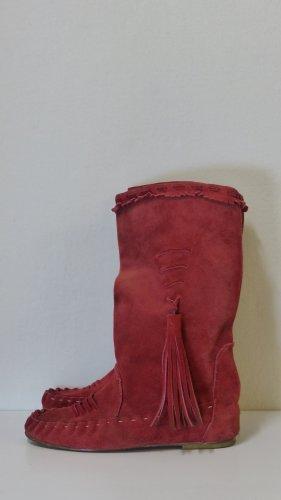 Vero Cuoio Cothurne rouge brique cuir