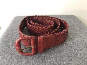 Accessorize Cintura di pelle rosso scuro