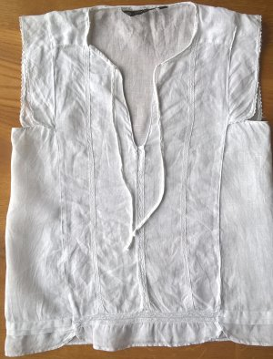 100% Leinen Bluse Top Zara Basic Neuwertig Gr. XS