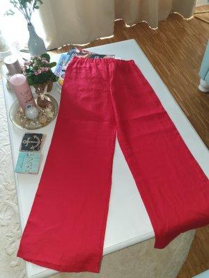 Pantalón de lino rojo