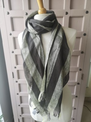 Adagio Summer Scarf anthracite-sage green