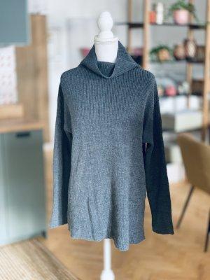 Oversized Sweater grey-dark grey merino wool