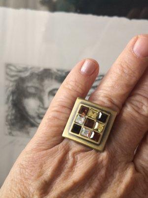 100 % Messing Zirkonia Vintage Ring Glitzer