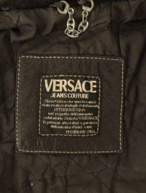 100% Original Versace Jacke Leder S M