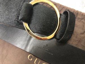 Gucci Lederen riem zwart Vacht