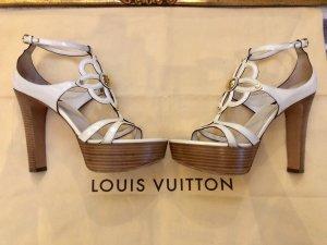 100% Originale Louis Vuitton Sandale in Farbe Creme in Gr. 39