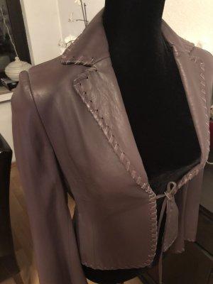 Mango Leather Blazer grey lilac