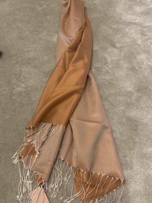 Sciarpa di seta albicocca-arancione scuro Seta