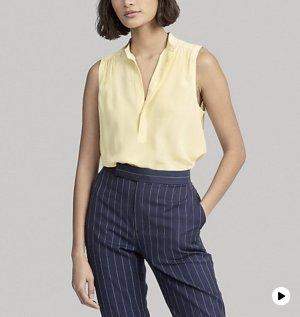 Polo Ralph Lauren Blusa in seta oro-giallo pallido Seta