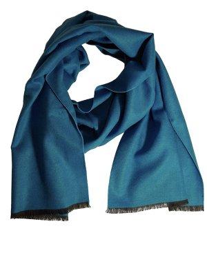 Sonstiges Écharpe en soie bleu acier-bleuet soie