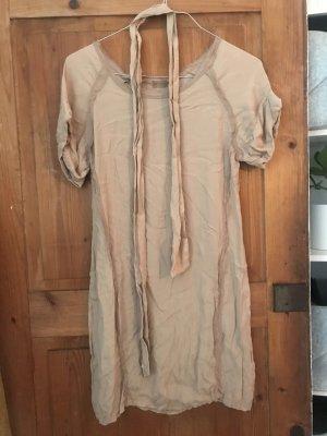 100% Seidenkleid, beige, mit Gürtel, Inconito/Petra R