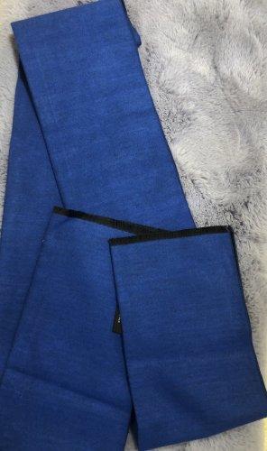 Sonstiges Écharpe en soie bleu foncé-bleu soie