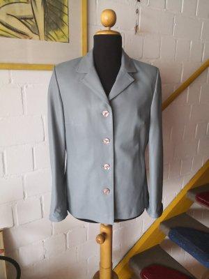 Belkis Leder Blazer de cuero gris pizarra-azul pálido