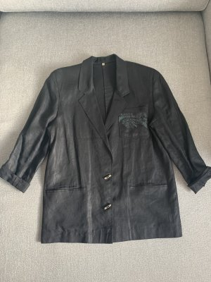 100% Vintage Leinen-Long-Blazer