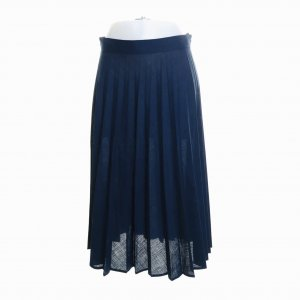 Vintage Boutique Pleated Skirt dark blue viscose