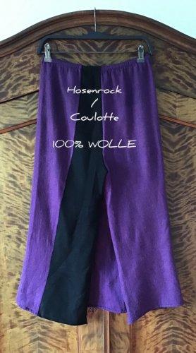 Hand made Jupes-culottes noir-violet laine