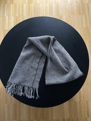 100% Wool Schal kariert grau Business