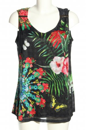 101 Idees Sleeveless Blouse allover print casual look