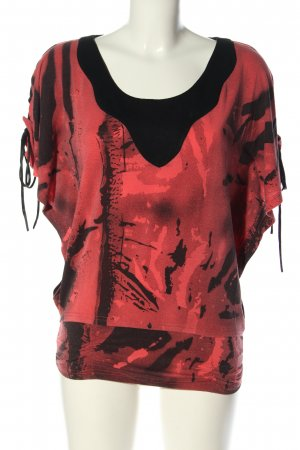 101 Idees Print Shirt red-black abstract pattern casual look