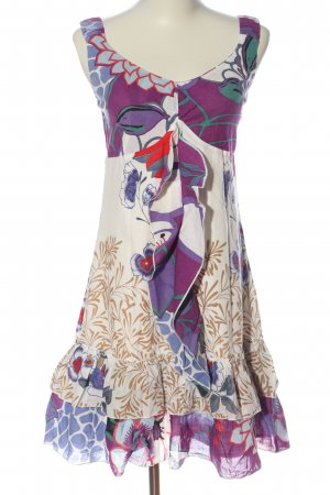 101 Idees Pinafore dress allover print elegant