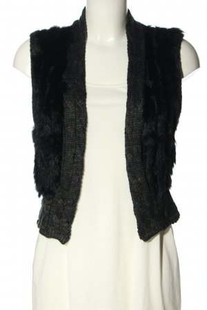 1060 Knitted Vest light grey-black flecked casual look