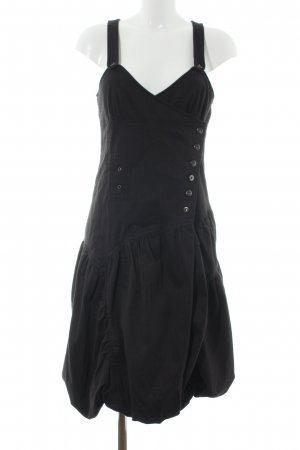 1060 Robe portefeuille noir motif rayé style d'affaires