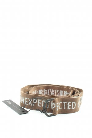 10Days Cintura in tela marrone-grigio chiaro Stampa a tema stile casual