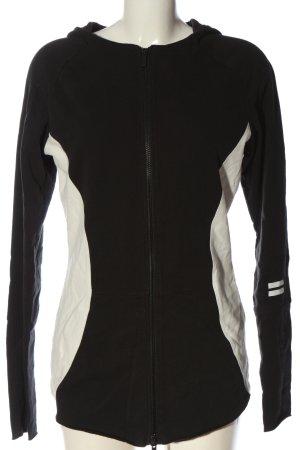 10Days Felpa con cappuccio nero-bianco stile casual
