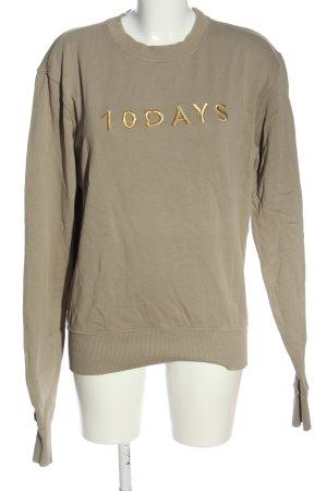 10Days Sweatshirt wolwit gedrukte letters casual uitstraling