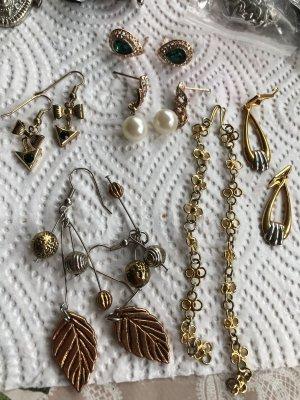 Orecchino a pendente argento-oro