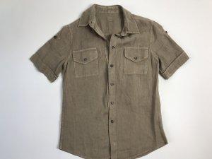 120% Lino Shirt met korte mouwen beige