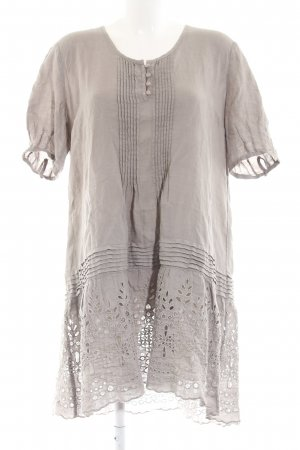 120% Lino Shortsleeve Dress light grey casual look