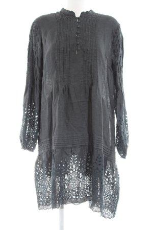 120% Lino Longsleeve Dress light grey casual look