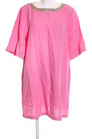 120% Lino Leinenbluse pink-goldfarben Casual-Look