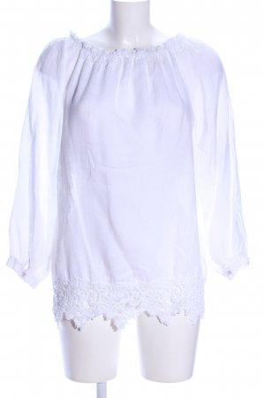120% Lino Linen Blouse white casual look