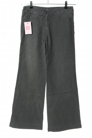 120% Lino Pantalon en lin gris clair style décontracté