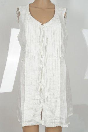 120% Lino Tunic Dress white linen