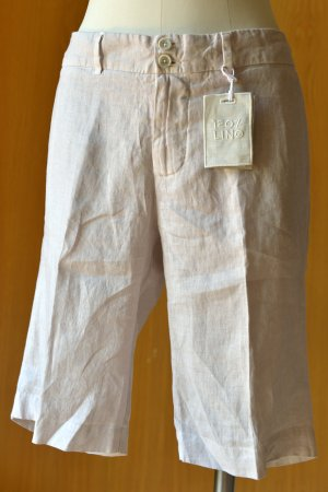 120% LINO Shorts 36-42 Bermudas Neu Etikett Rose Beige Leinen Leinenshorts
