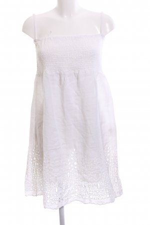 120% Lino Vestido playero blanco look casual