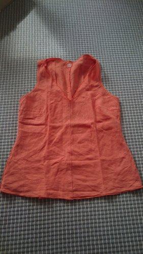 120% Lino Top Leinen orange XS/34 ITA 40